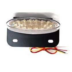 Achterlicht LED + kentekenplaat houder blank universeel