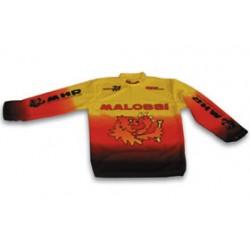 kleding t-shirt lange mouwen XL geel/rood/zwart malossi mhr 4111365.60