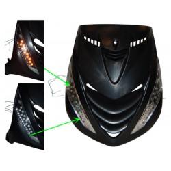 knipperlichtset led (model audi) zip2000 chroom/transparant voor DMP