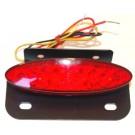 Achterlicht LED + kentekenplaat houder rood universeel