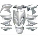 plaatwerkset special aerox zilver metallic DMP 11-delig