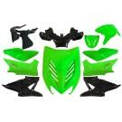 plaatwerkset special aerox fluor groen DMP 11-delig