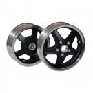 Velgen special Vespa S LX LXV mat zwart / gepolijst GTS 300 style